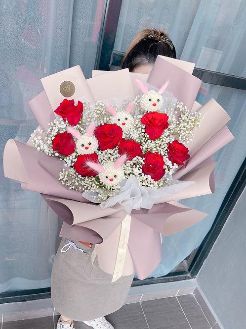 Rabbit Party - Fresh Flower Arrangement