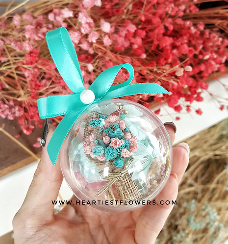 Tiffany Theme Hanging Ornament - with keychain