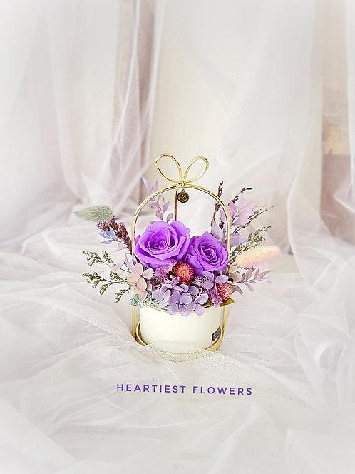 Sagittarius Special - Preserved Purple Rose Gold Handed Pot