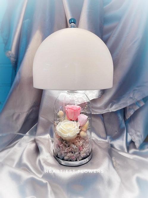 Table Lamp - Preserved Flower Arrangement