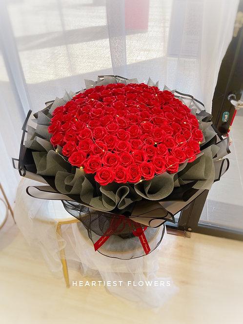 99 Premium Soap Rose Bouquet