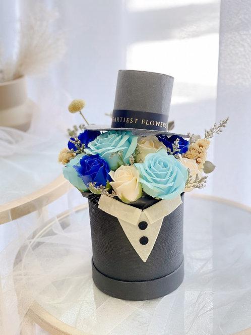 For The Gentleman - Soap Flower Arrangement