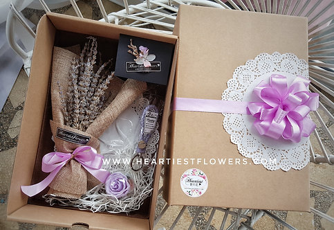 Lavender Flower Gift Box Set