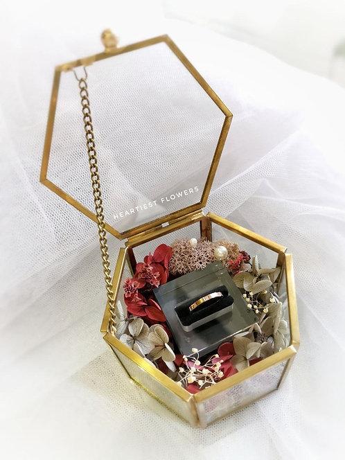 Single Slot Ring Box - Preserved Flowers