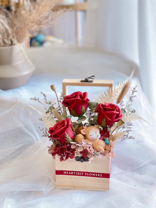 Baby Rose Garden Wooden Box - Soap Flower