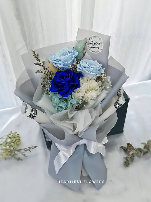 Preserved Blue Roses Bouquet