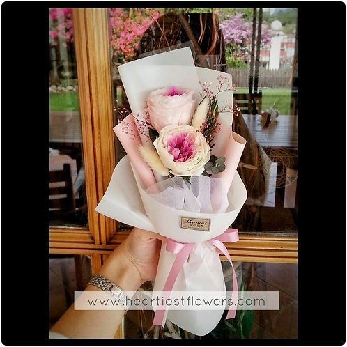 Austin Rose Bouquet (Long Lasting)