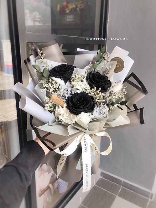 Best in Black - Preserved Flower Bouquet