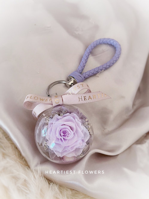 Preserved Rose Keychain - 6cm Acrylic Case (Various Color Available)