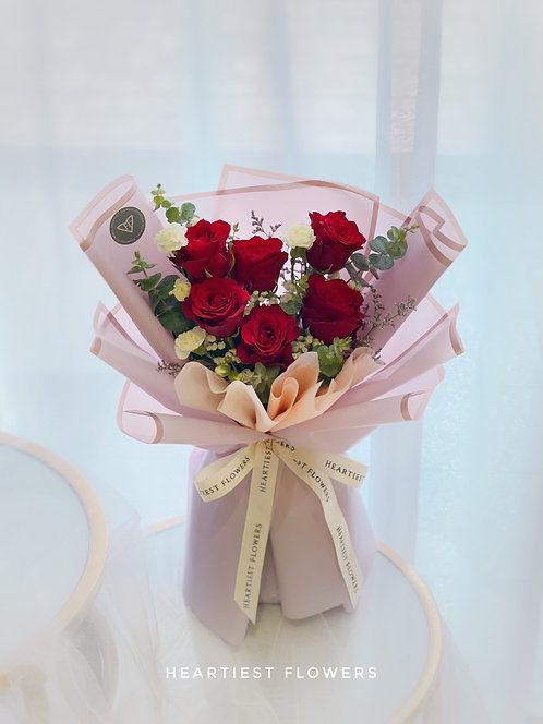 Wonderful You - 6 Stalks Fresh Rose