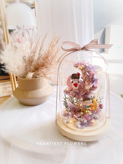 Moonlight Romance - Preserved Flower Jar