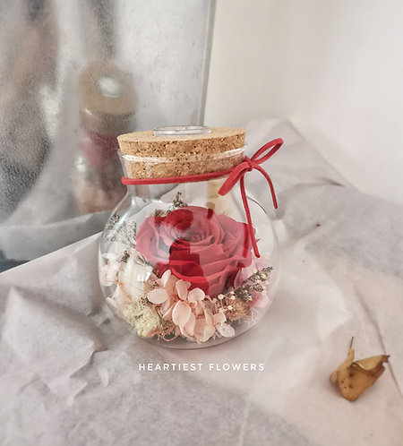 Small Jar with Light - Red