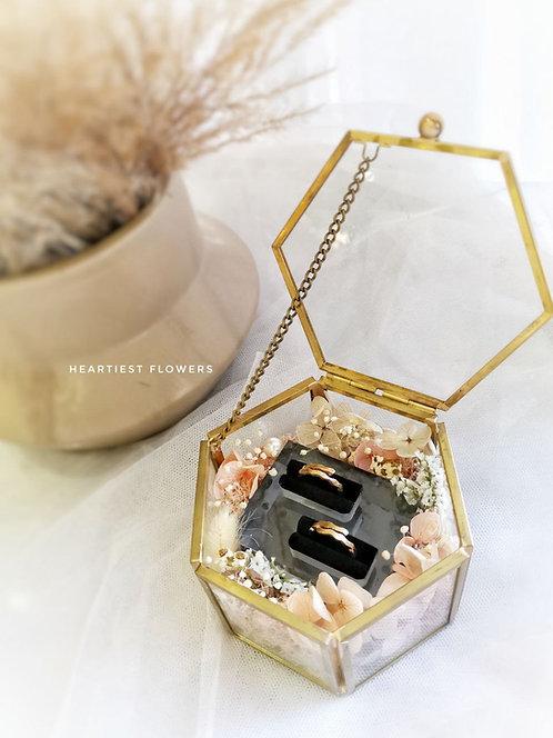 Double Slot Ring Box - Preserved Flower