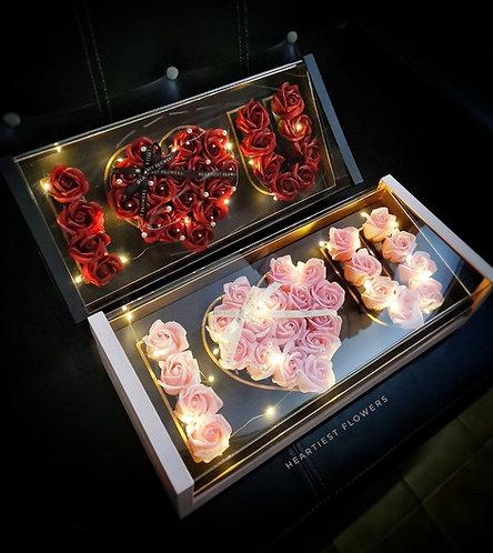 I love you Box - Soap Flower