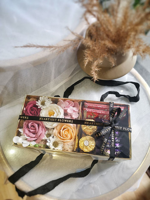 Chocolate Lover - Soap Flower Gift Box