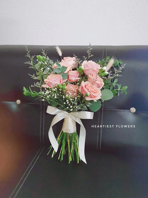9 roses bridal bouquet