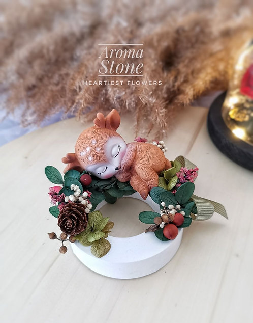 Christmas Special - Sleeping Deer Preserved Flower Aroma Stone