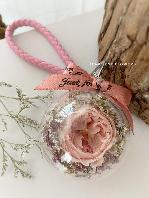 Pastel Pink Austin Keychain
