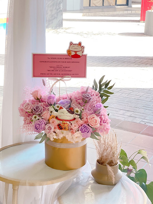 Neko Pastel Bloom - Soap Opening Greeting Flower