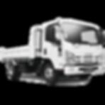 White tipper truck