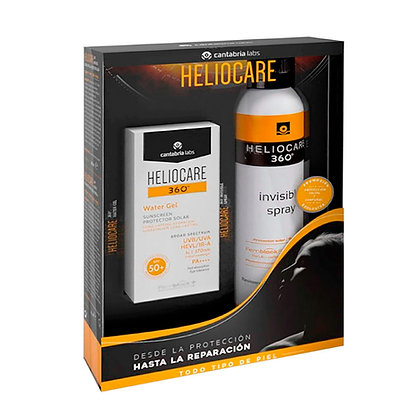 Pack Heliocare 360° Invisible Spray SPF 50+ + Heliocare 360° Water Gel+ AIRGEL