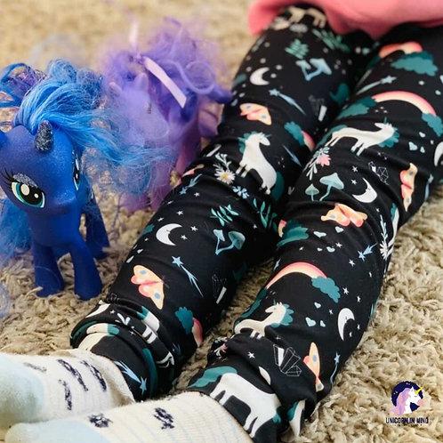 Exclusive Unicorn Cuffed Leggings
