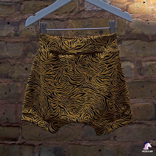 Mustard Zebra Haram Shorts