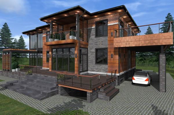 FACADE DESIGN FOR PRIVATE HOUSE