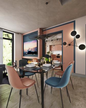 HOUSE IN MODERN AVANT-GARD STYLE