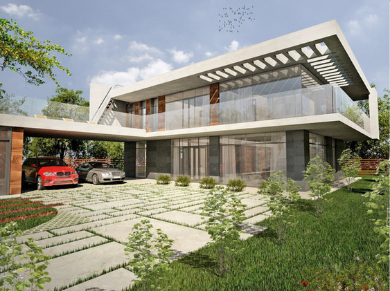 ARCHITECTURE OF MODERN HOUSE IN VLADIMIR REGION