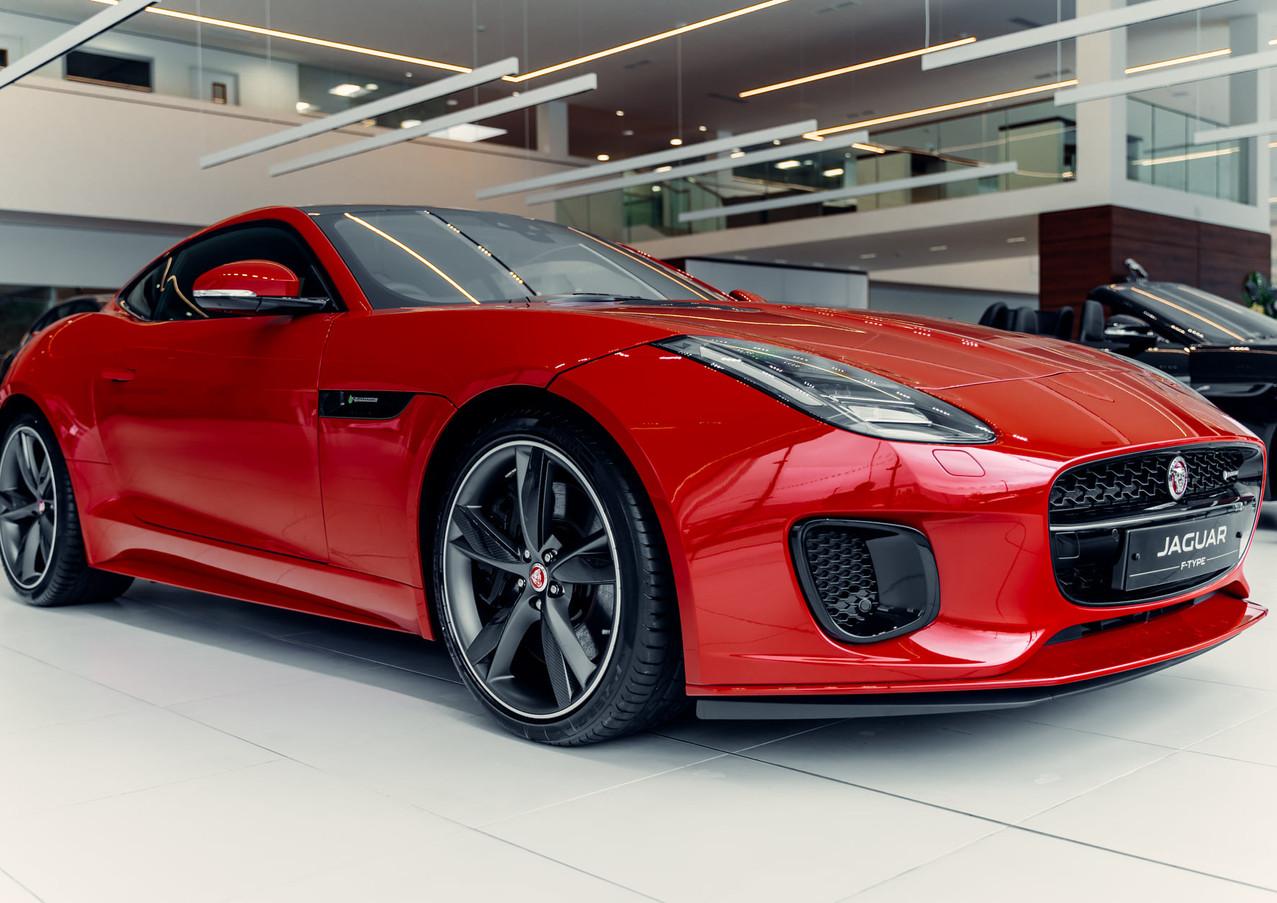 Red Jaguar F-Type