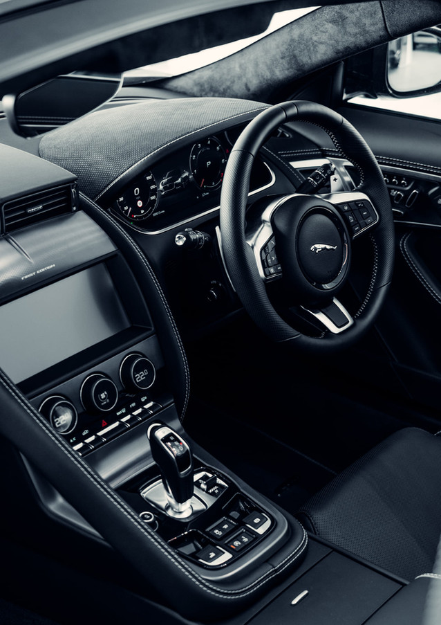 Interior of a Jaguar F-Type