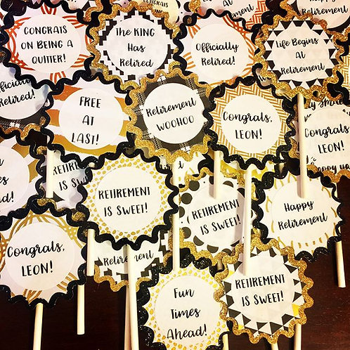 Cupcake Toppers - CUSTOMIZABLE FOR ANY OCCASION