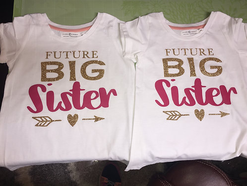 Future Big Sister Tee - Name on Back