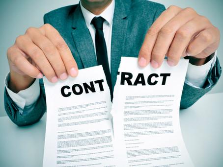 Let op! Laat het contract door uw wederpartij altijd ondertekenen door een daartoe bevoegd persoon!