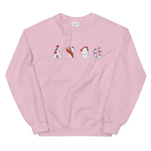 Nowhere, USA Pink Crewneck
