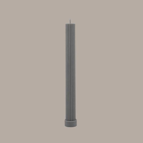 Column Pillar Candle - Grey