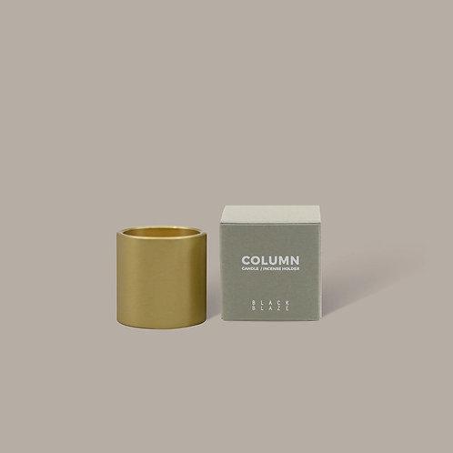 Column Brass Candle Holder
