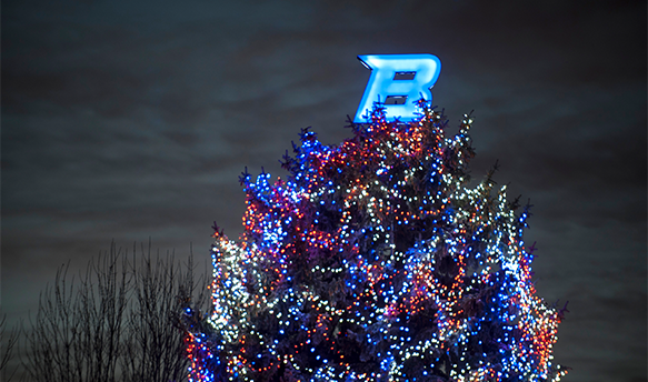 Boise State Christmas Tree