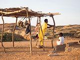 peuple sur la route du desert la guajira