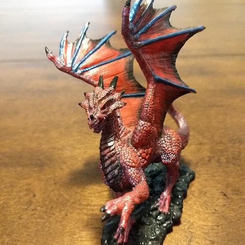 Small Red Dragon Miniature