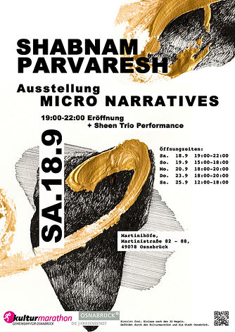 Shabnam Parvaresh Micro Narratives Exhibition