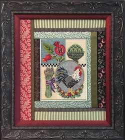 Kitchen Rooster Framed