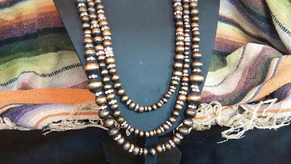 3 Strand JCK Copper Necklace/EarringSet