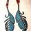 Thumbnail: Rose Gold Turquoise Earrings