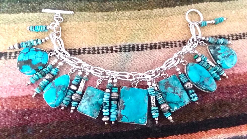 Sterling Turquoise Bracelet