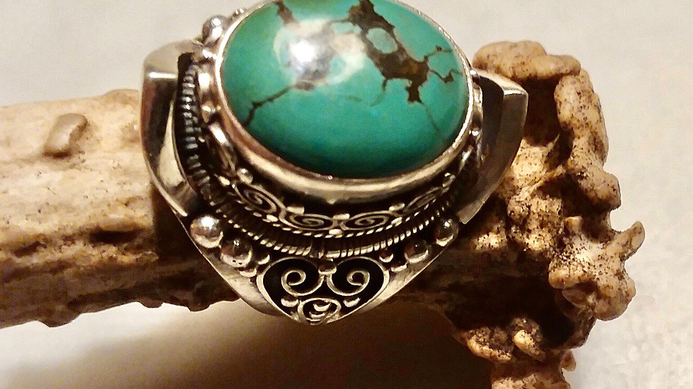 Men's Natural Turquoise Ring