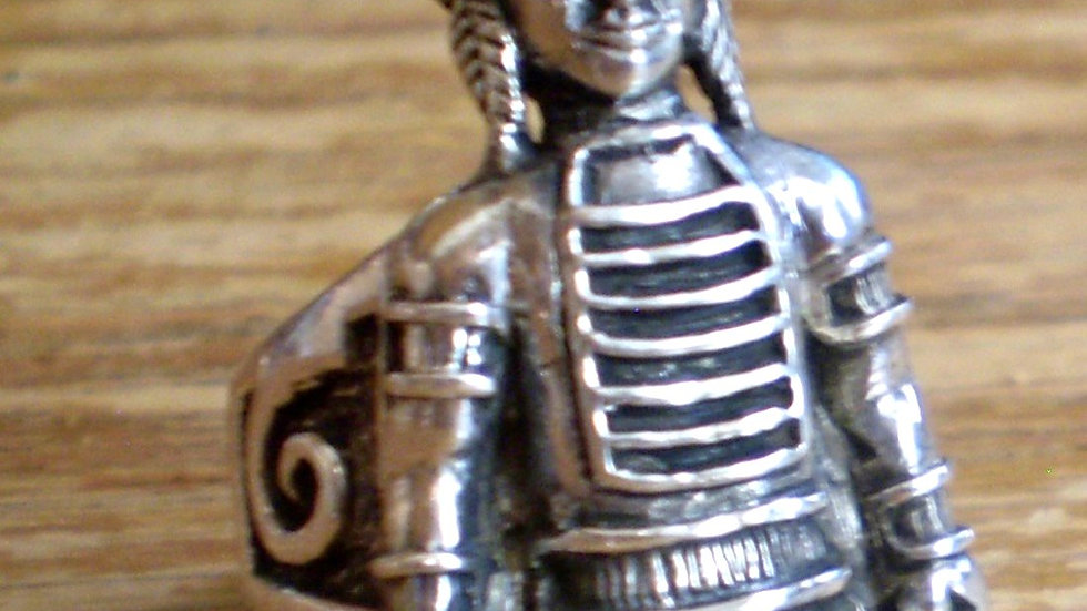 Sterling Indian Bust Ring