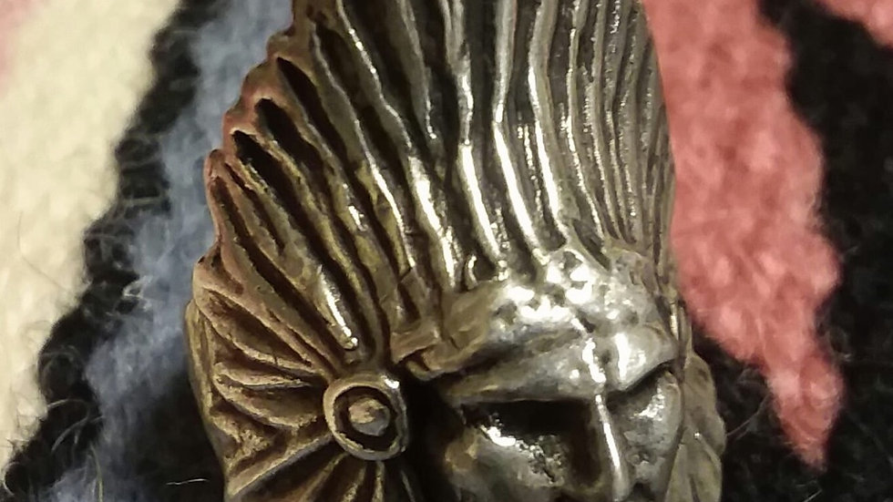Dead Pawn Indian Head Ring