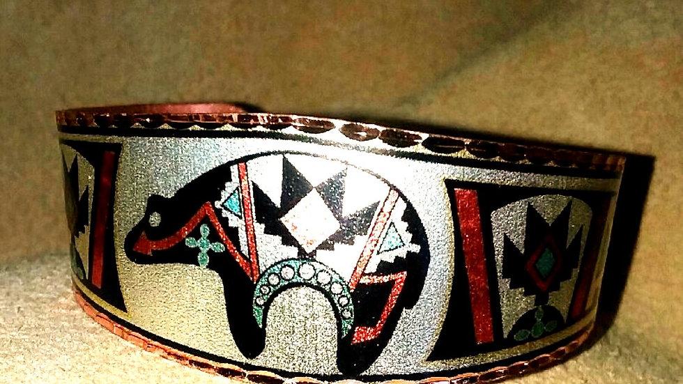 Zuni Copper Cuff Bracelet